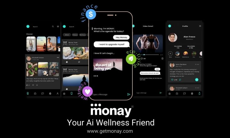 """Photo of Monay, the world's first Total wellness Ai chat assistant, helps users realise that """"true happiness is not just about money"""""""