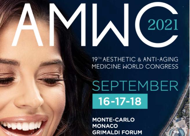 Photo of Dr Priya Chadha & Dr Lara Watson at AMWC 2021
